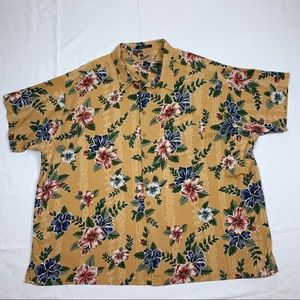 Tommy Hilfiger 4XB Button Up Floral Hawaiian Camp